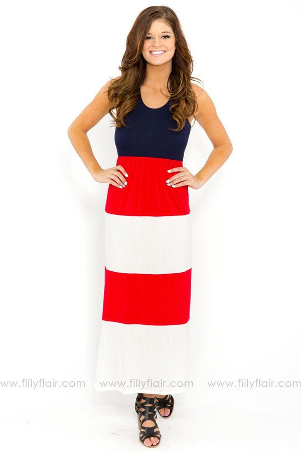 Liberty and Justice Maxi Dress in Red