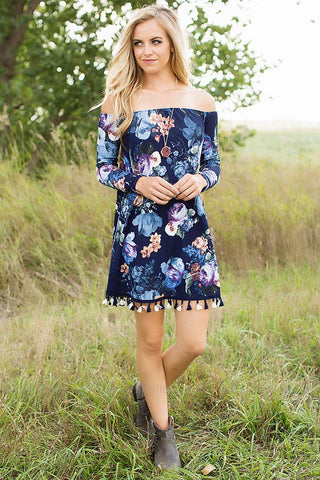 Between You and Me Off Shoulder Dress