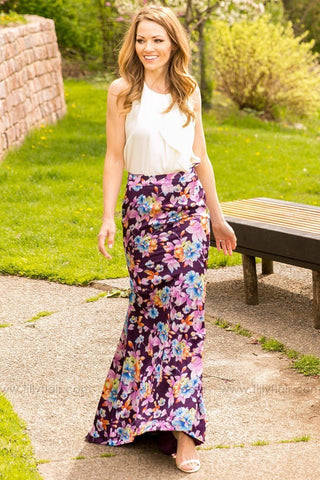 Royal Entrance Floral Maxi Skirt - Exclusive