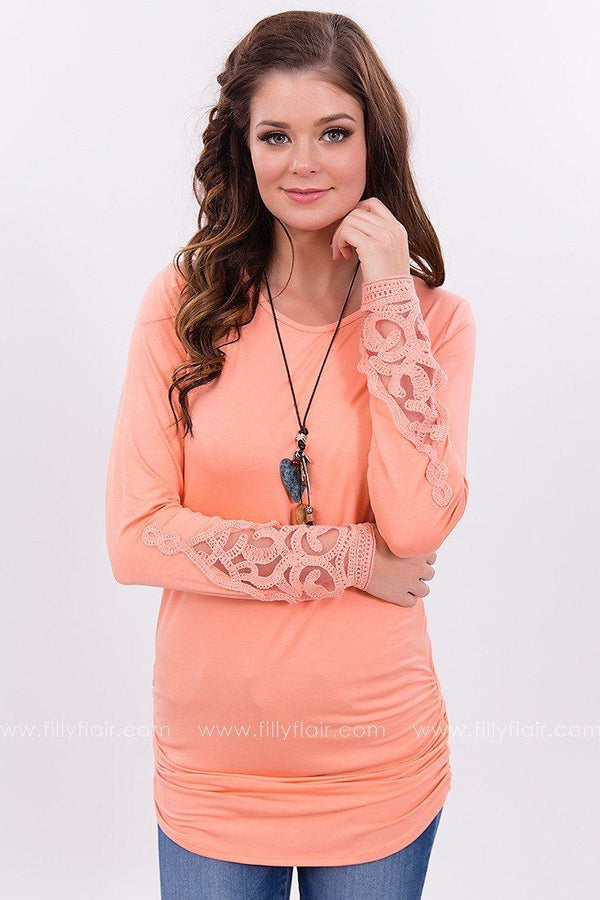 Soft Melodies Tunic in Coral