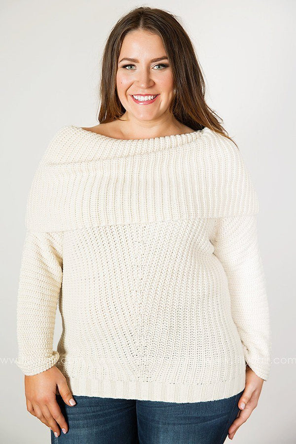 True Comfort Sweater in Cream