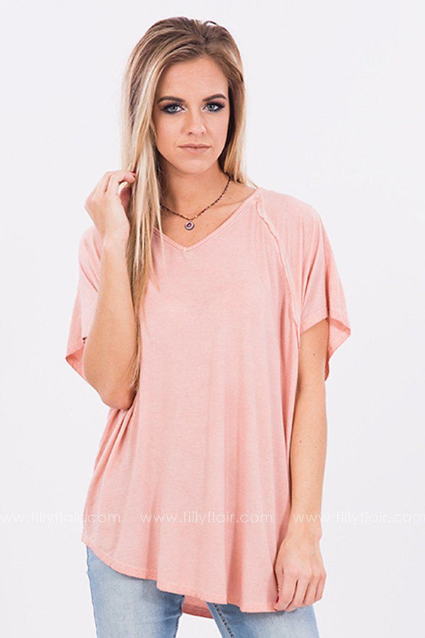 Positively Radiant Oversized Tee in Apricot