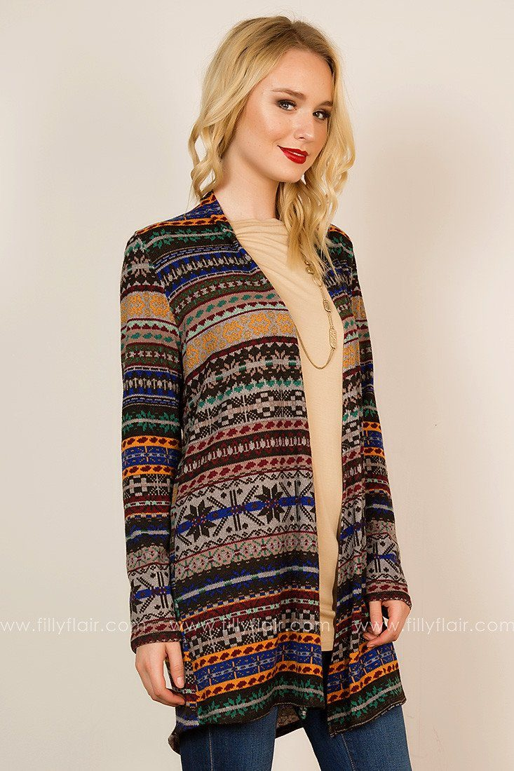 Eye-Catching Creativity Cardigan