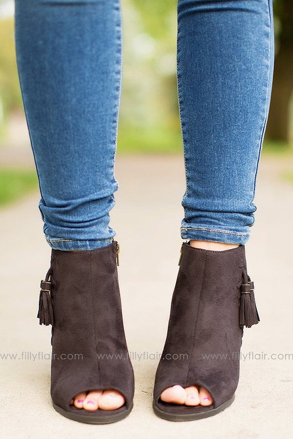 Take a Peek Booties in Black