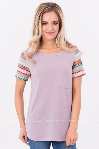 Fiesta Forever Embroidered Top in Mauve