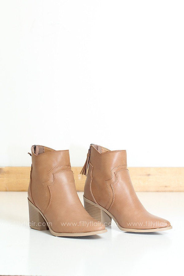 Lightning Bootie in Tan