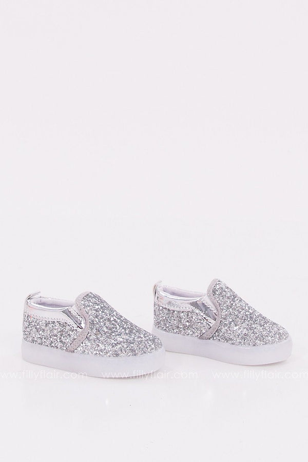Mini Glam Kid's Shoes in Silver