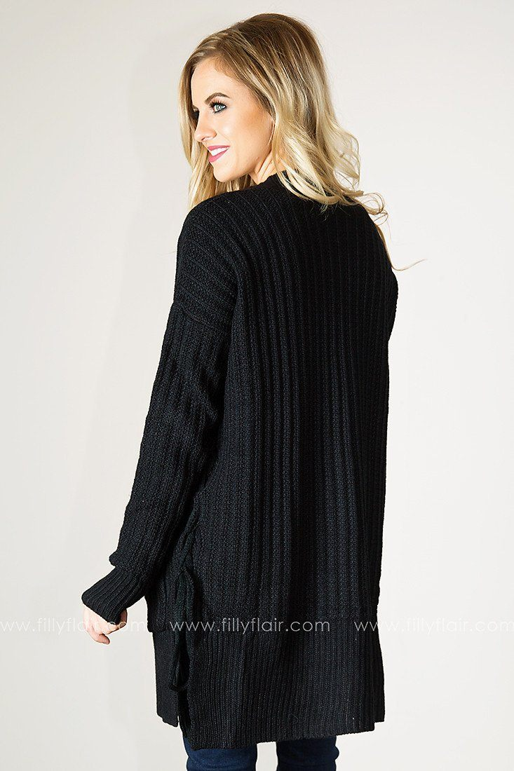 At Leisure Cardigan in Black