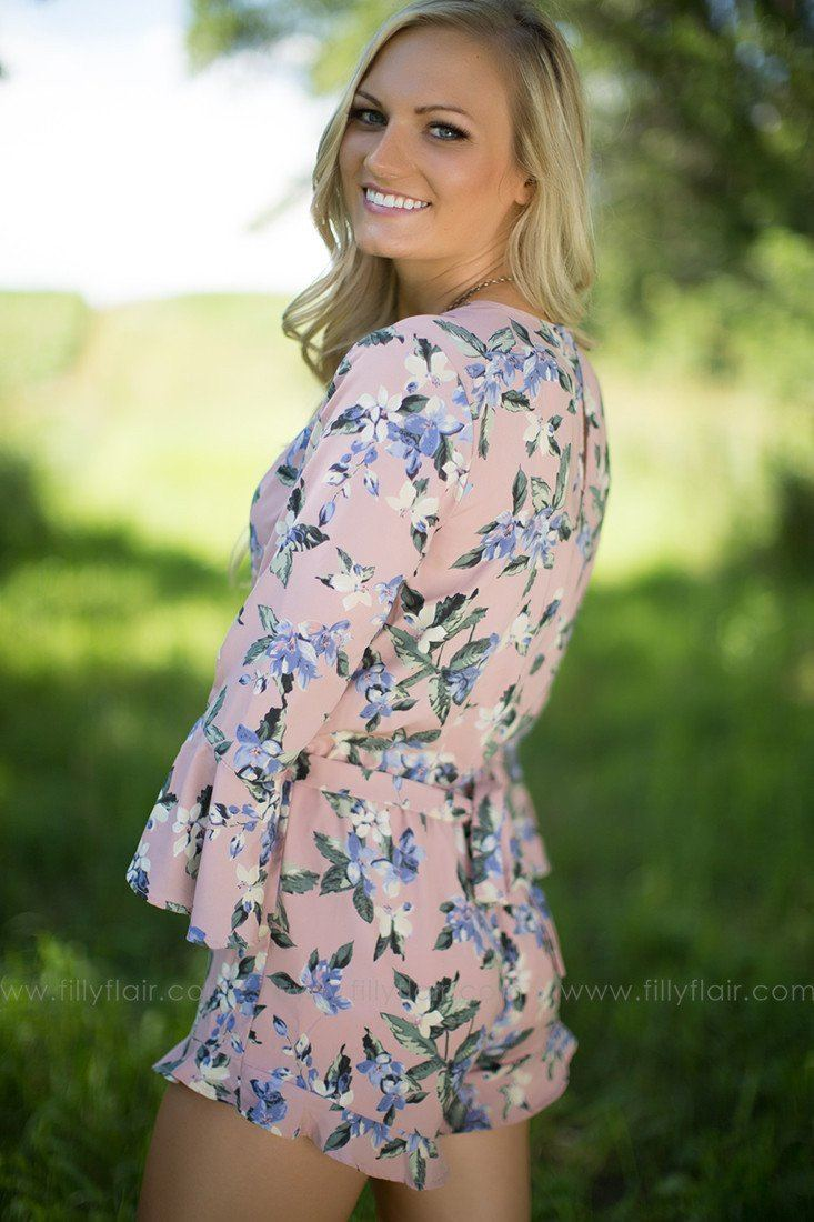 Table in the Shade 3/4 Sleeve Romper