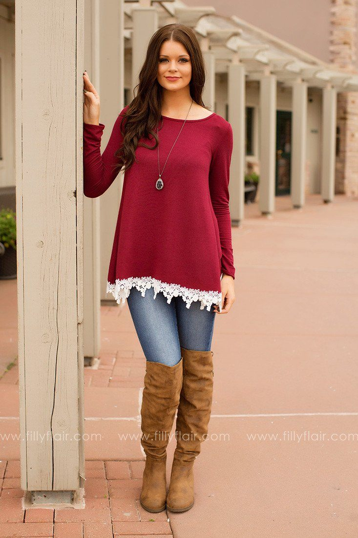 Make Time Top in Burgundy