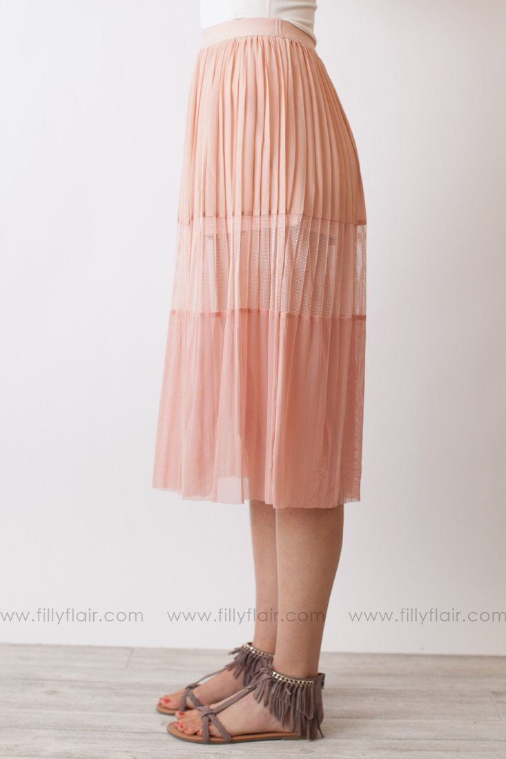 Mesh Skirt in Pink