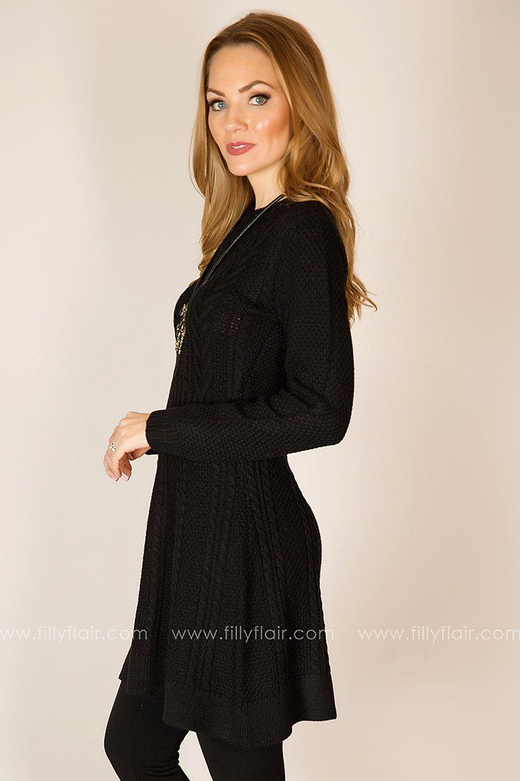 Level Out Sweater Dress in Black