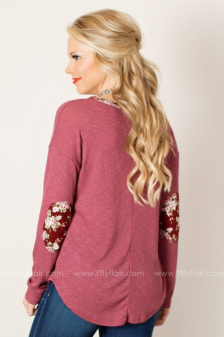 This Moment Long Sleeve Top in Berry