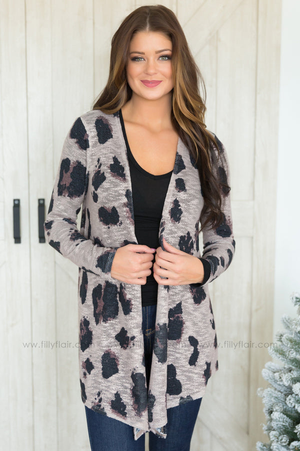 Forever Wild Leopard Print Cardigan in Mocha - Filly Flair