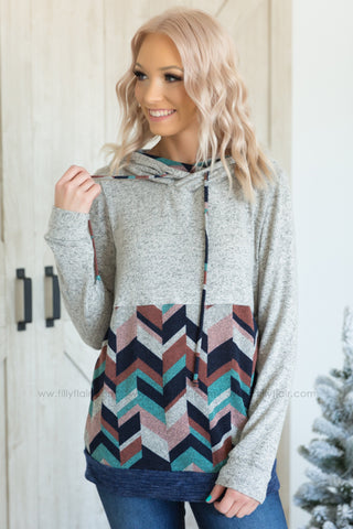 Dusty Pastels Amersand Ave Double Hooded Sweatshirt