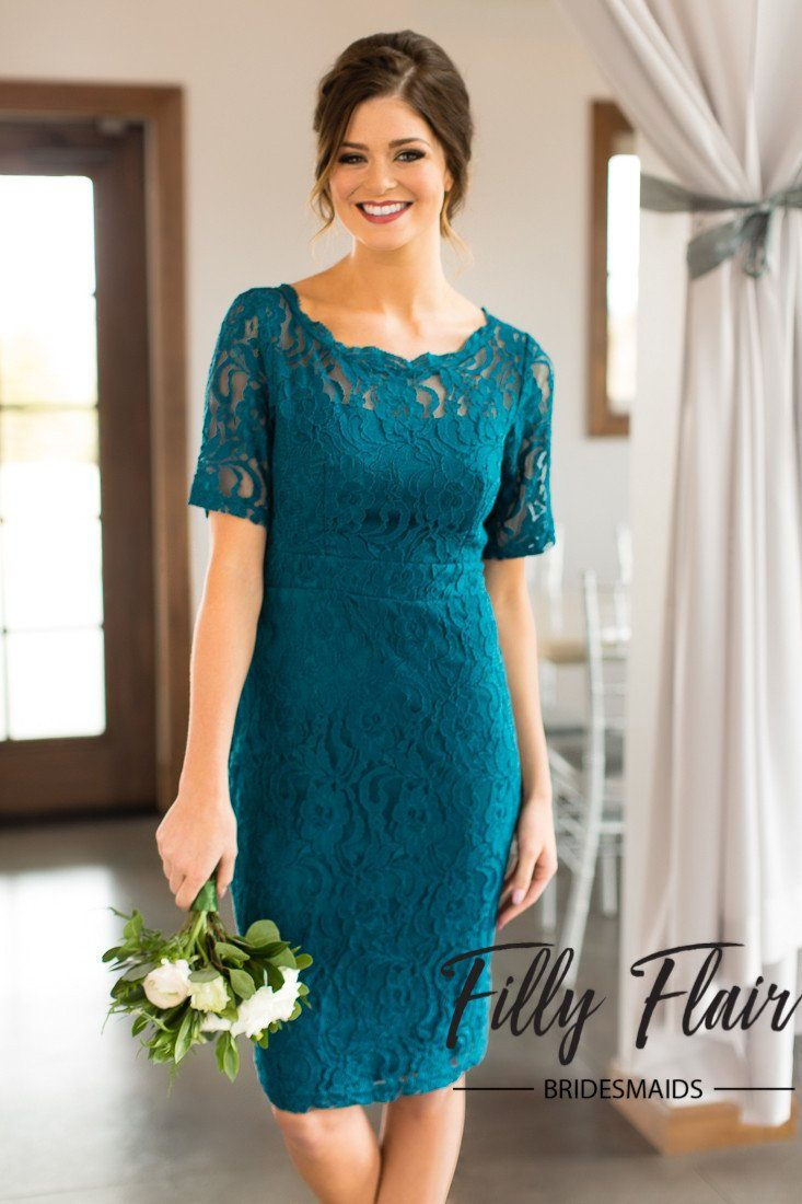 Evelyn bridesmaid dress in teal filly flair bridesmaid dresses under 100 ombrellifo Gallery