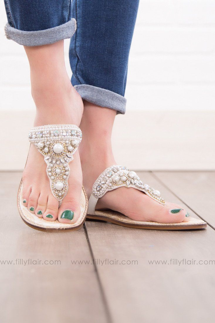 Naughty Monkey Gardenia Sandal in White