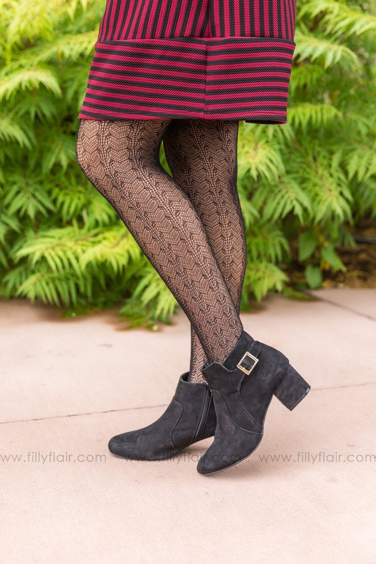 Lace Pantyhose in Black - Filly Flair