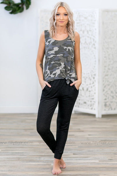 Let's Relax Jogger Pants in Black - Filly Flair