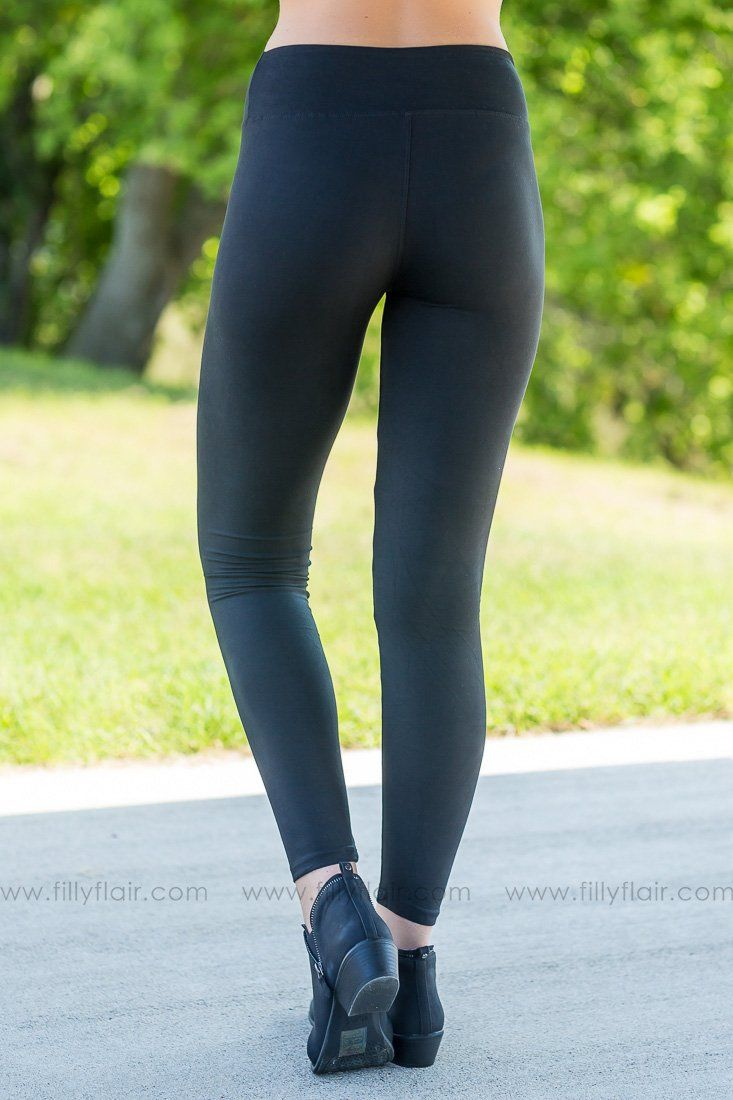 Give Them Some Love Leggings In Black - Filly Flair