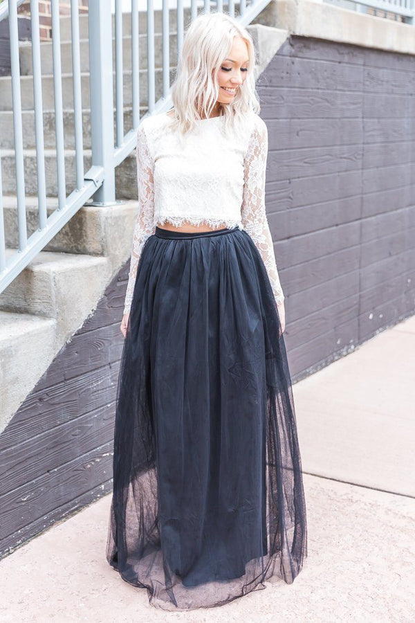 Baby Be Mine Tulle Skirt In Black - Filly Flair
