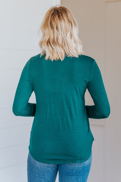 *DEAL* It Is What It Is Button Down Long Sleeve Top in Hunter Green - Filly Flair