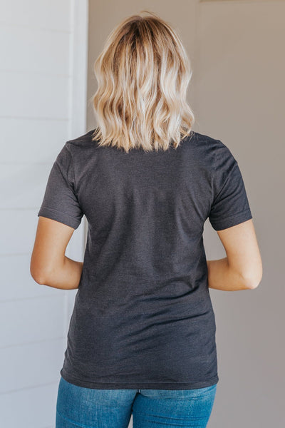 """Pray Wait.Trust."" Graphic Short Sleeve Top in Black - Filly Flair"