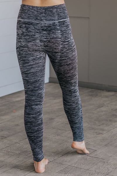 Here I Go Again Two Tone Ombre Leggings in Black - Filly Flair