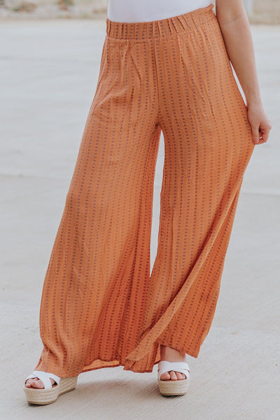 Summer Days Print Pants in Paprika - Filly Flair