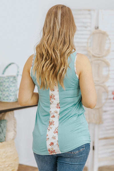 Embrace The Time Floral Lace Tank Top in Mint - Filly Flair