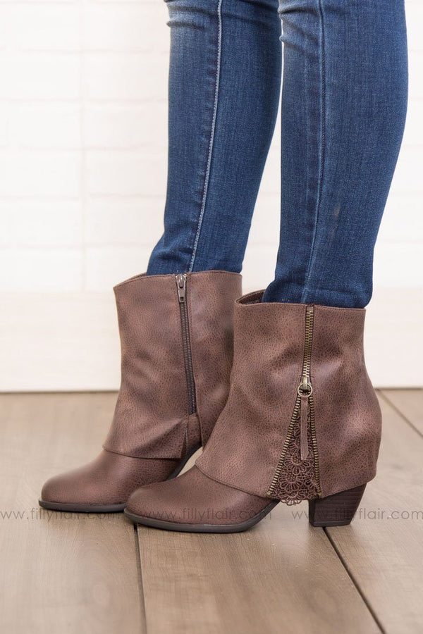 Not Rated Summer Booties in Brown
