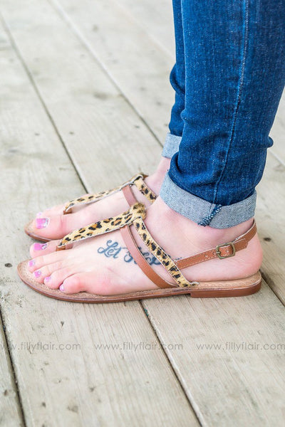 Naughty Monkey Gemma Leopard Sandals - Filly Flair