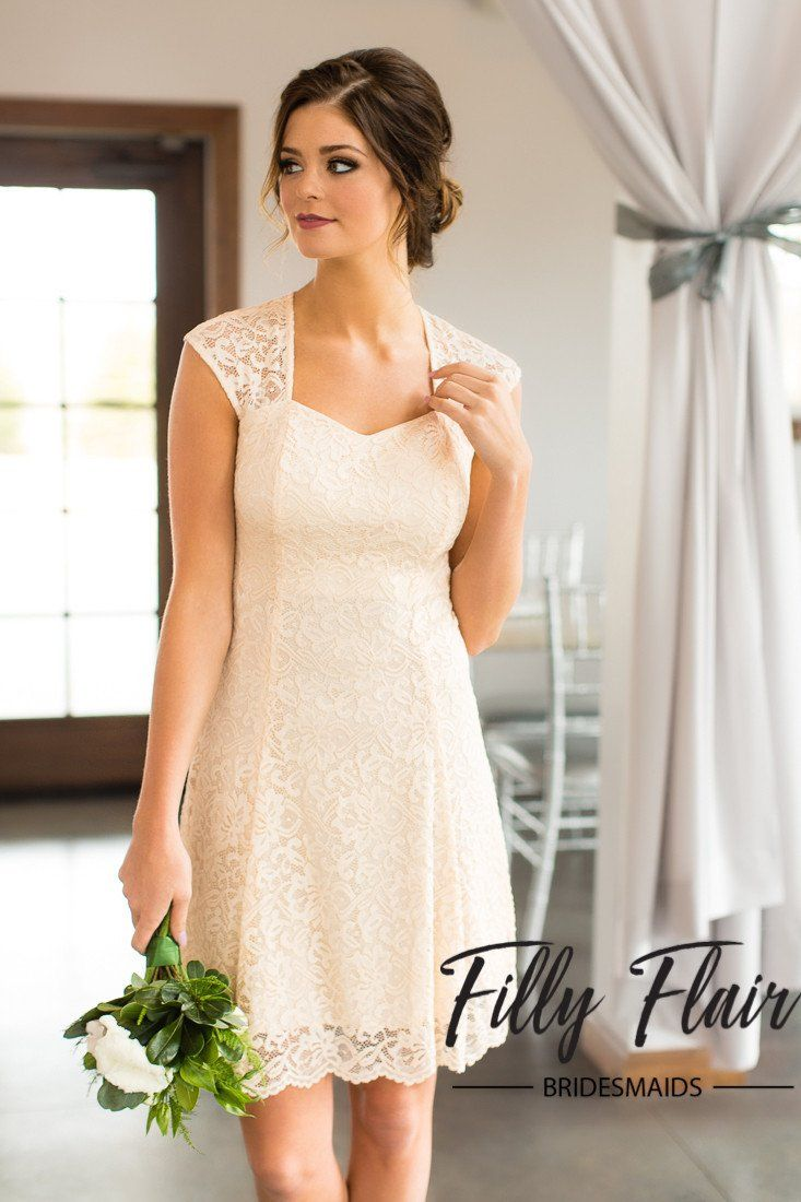 Celeste Bridesmaid Dress in Ivory - Filly Flair