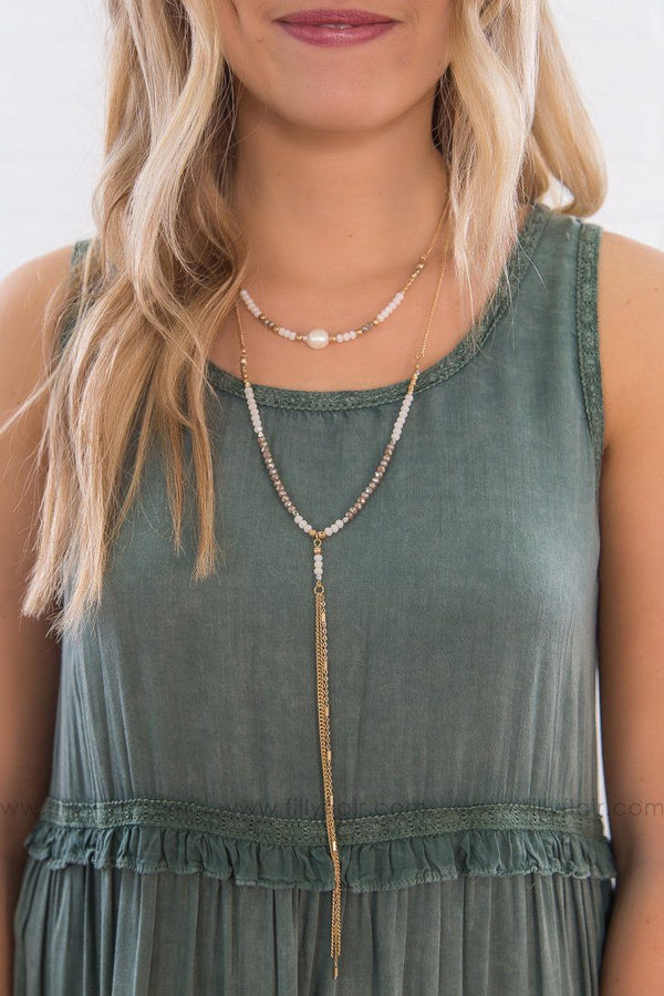 Behind The Sun Multi Strand Freshwater Pearl Necklace