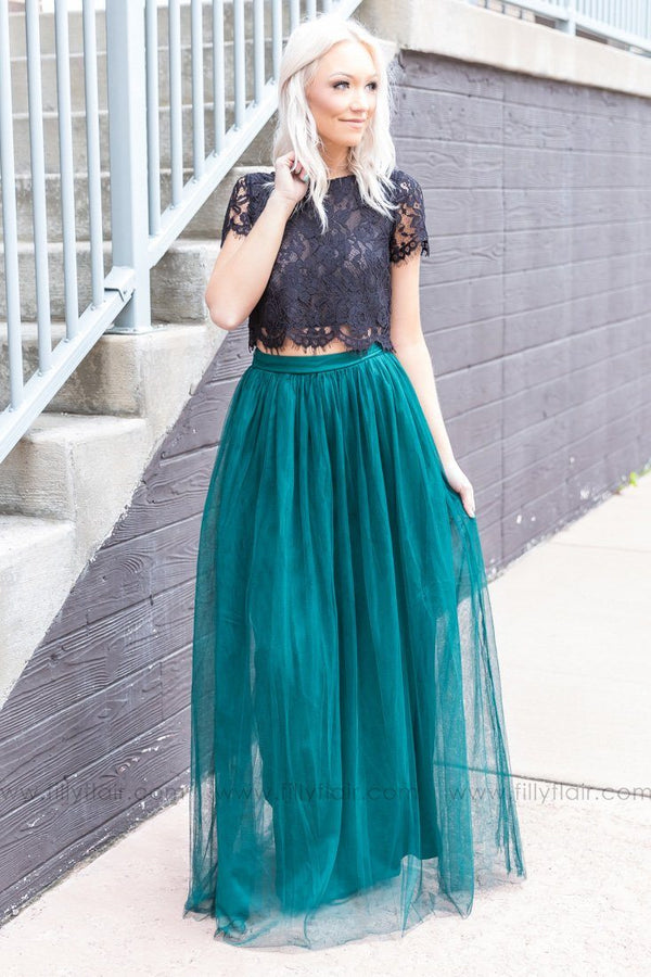 Baby Be Mine Tulle Skirt In Emerald Green - Filly Flair