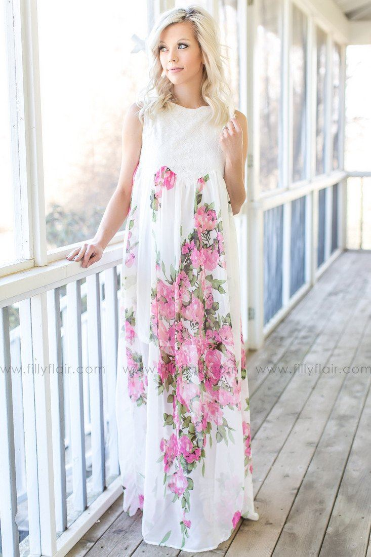 Floral Printed boutique maxi dress