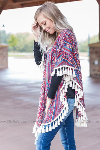Where You're From Tribal Cowl Neck Sweater in Taupe