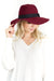 Make Me Better Panama Hat in Maroon