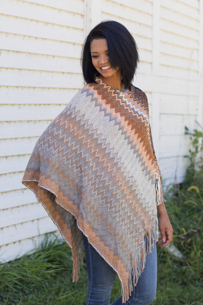 Marry The Night Poncho in Brown - Filly Flair