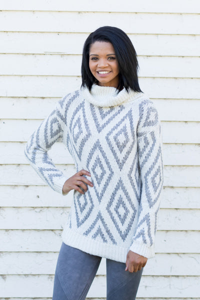 Love Holding You Close Turtle Neck Sweater in Ivory - Filly Flair