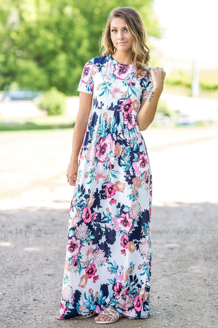 All in Time Floral Printed Maxi Dress