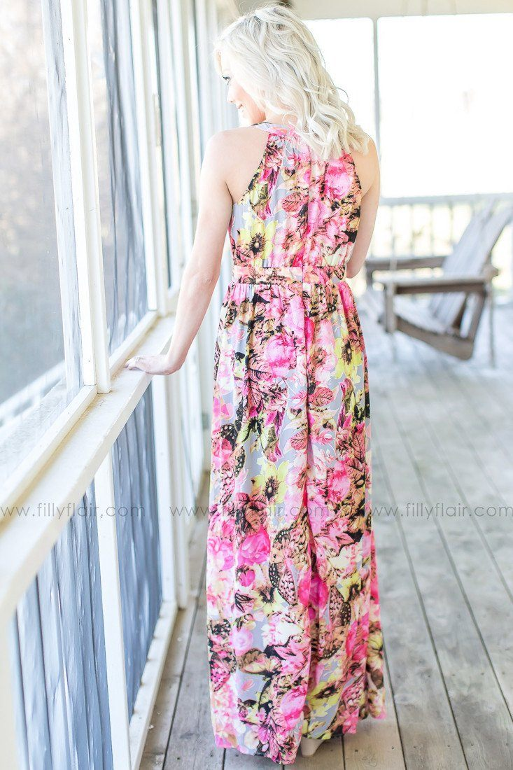 Breath of Fresh Air Floral Maxi Dress in Pink - Exclusive