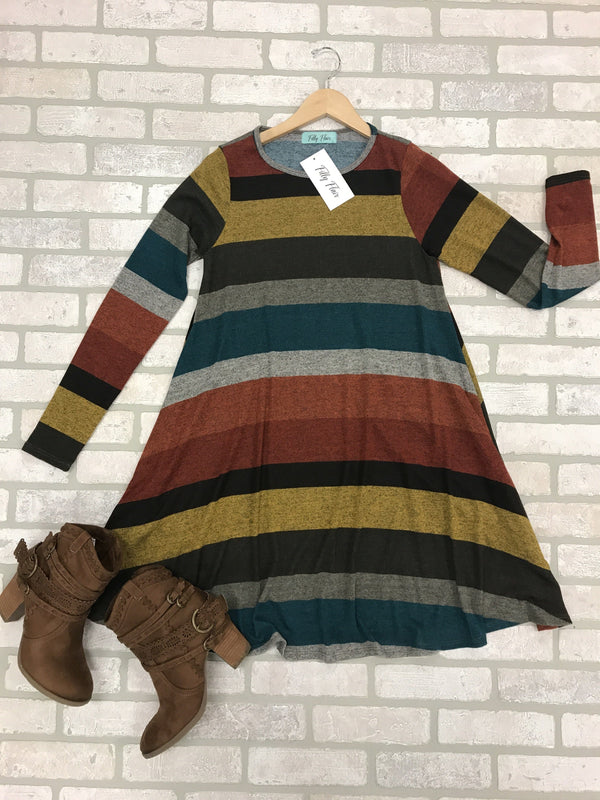 Beautiful Day Sweater Shift Mini Dress