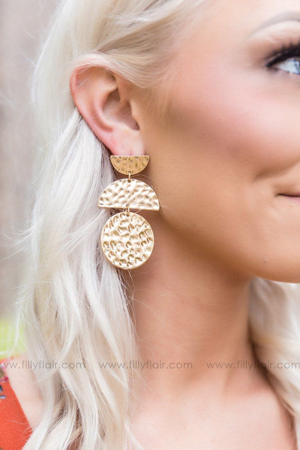 Let Me Shine Gold Earrings - Filly Flair