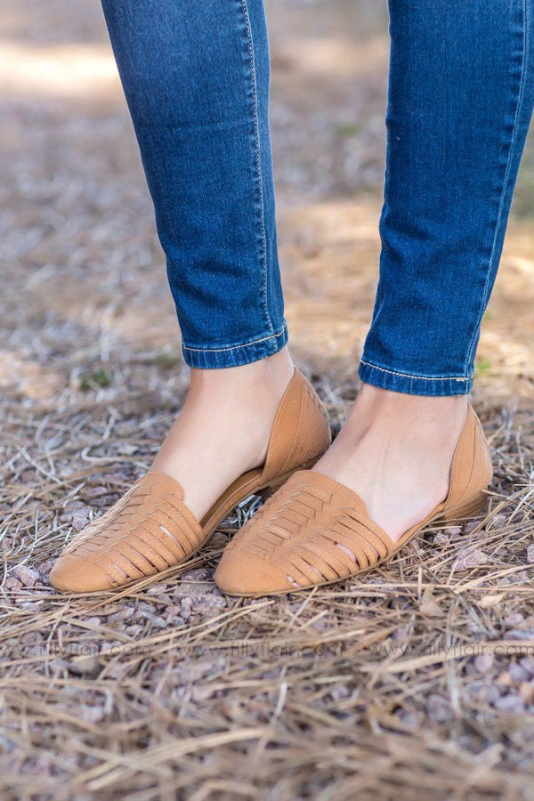 *101918 Every Step You Take Suede Slip on Flats In Camel - Filly Flair