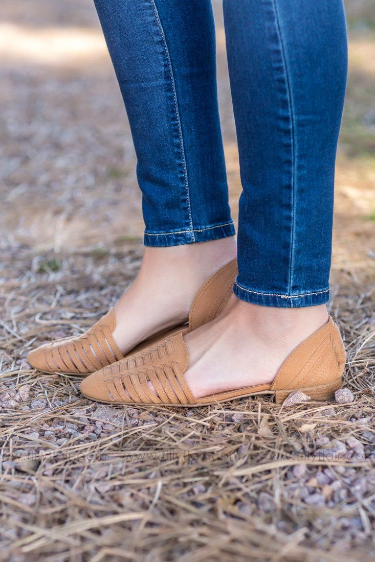Every Step You Take Suede Slip on Flats In Camel - Filly Flair