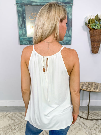 On A Whim Color Block Tank Top in White, Mint, & Blue - Filly Flair