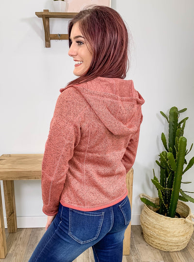 Saturday Morning Errands Zip Up Hoodie In Heather Mauve - Filly Flair