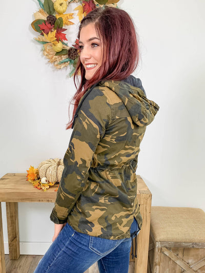 Old Town Road Hooded Jacket in Camo - Filly Flair