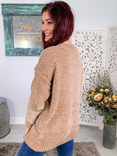 Believe Love Wins Long Sleeve Sweater in Mocha - Filly Flair